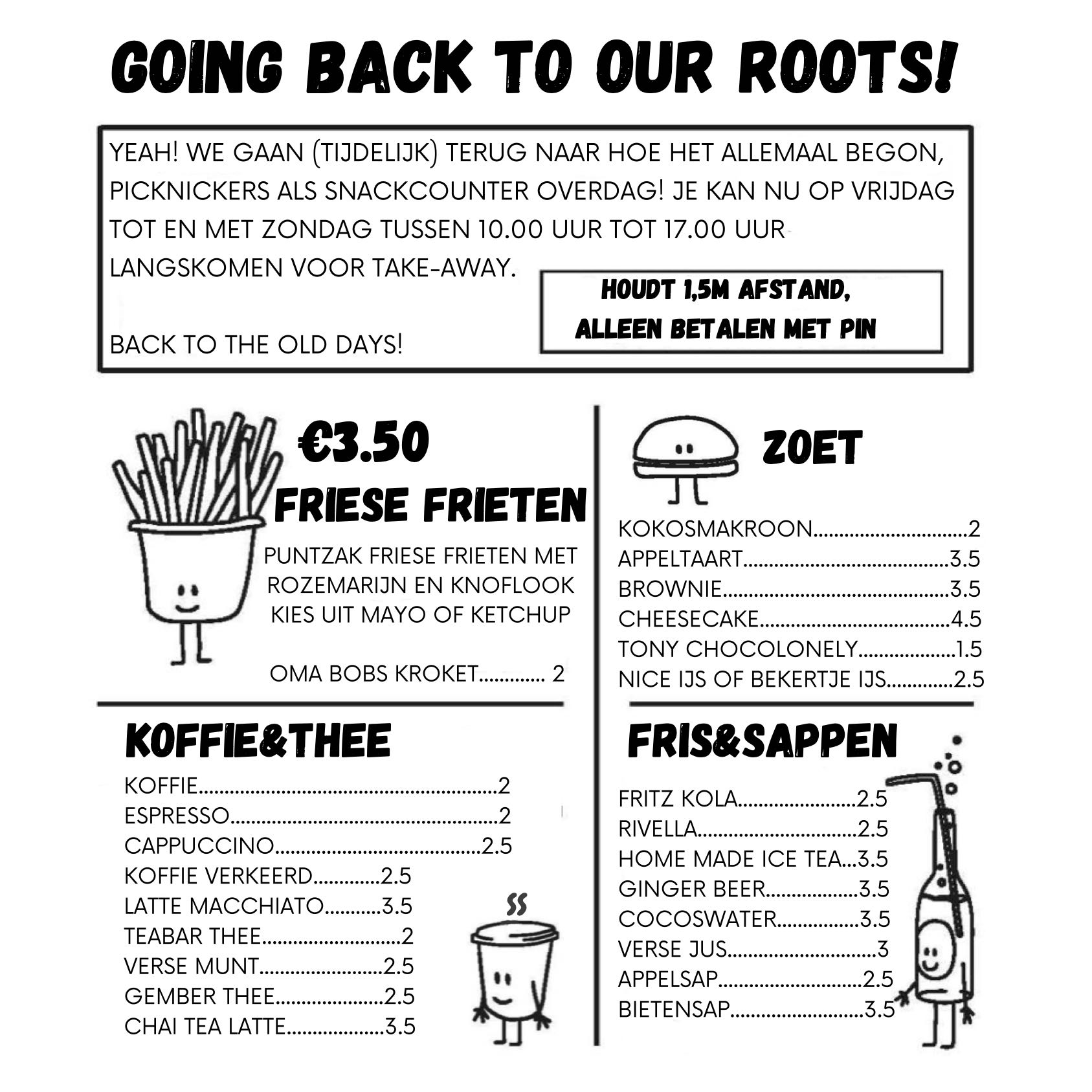 walkby menu Picknickers Terherne
